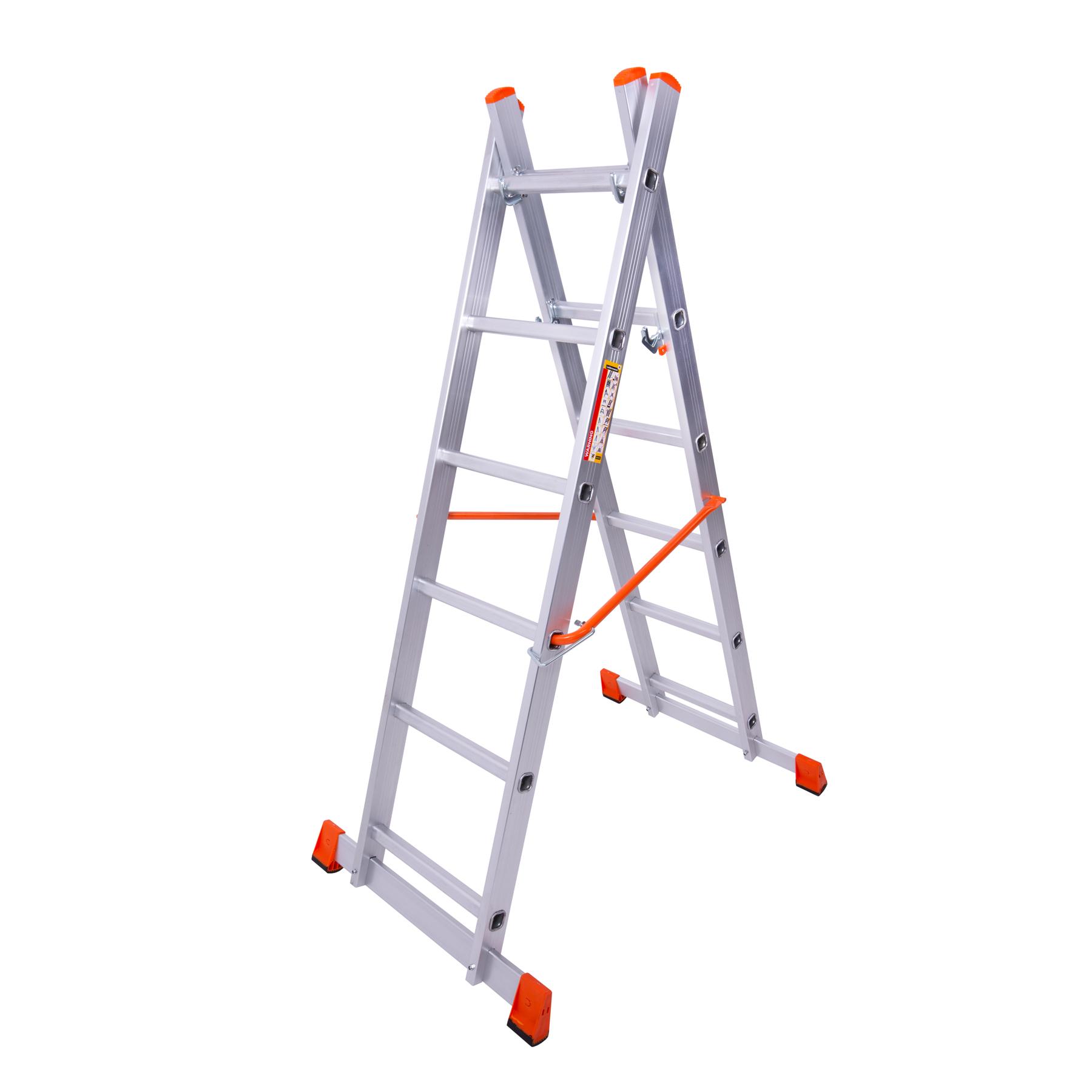 Использование лестницы помоста в качестве двусторонней стремянки