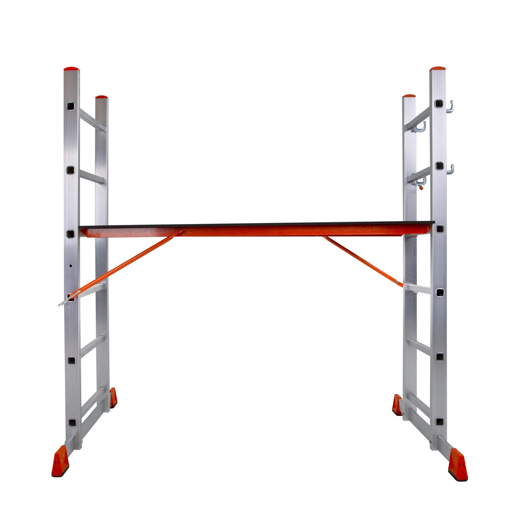 Лестница помост алюминиевая 2x6 ступенек