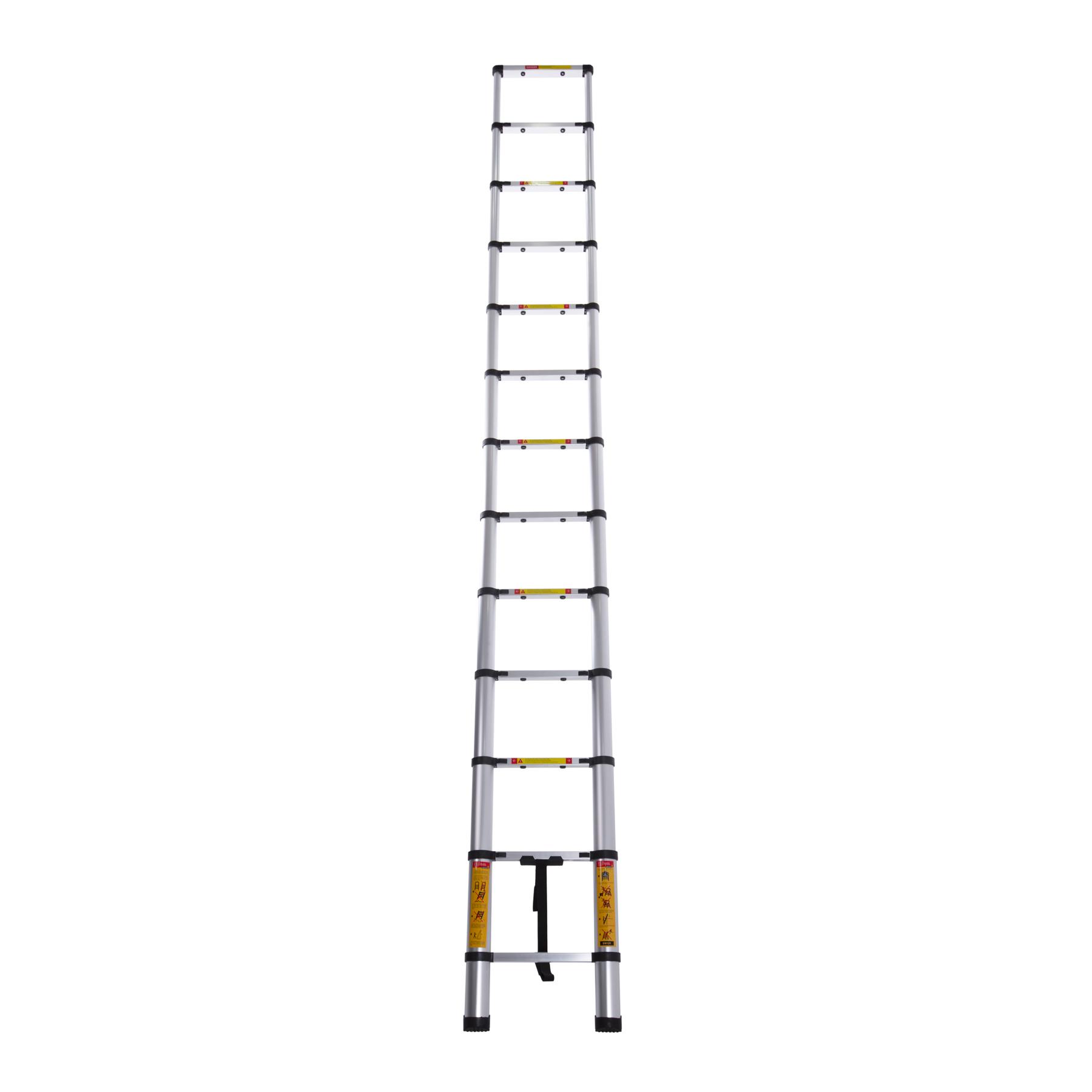 Лестница телескопическая алюминиевая 12 ступенек