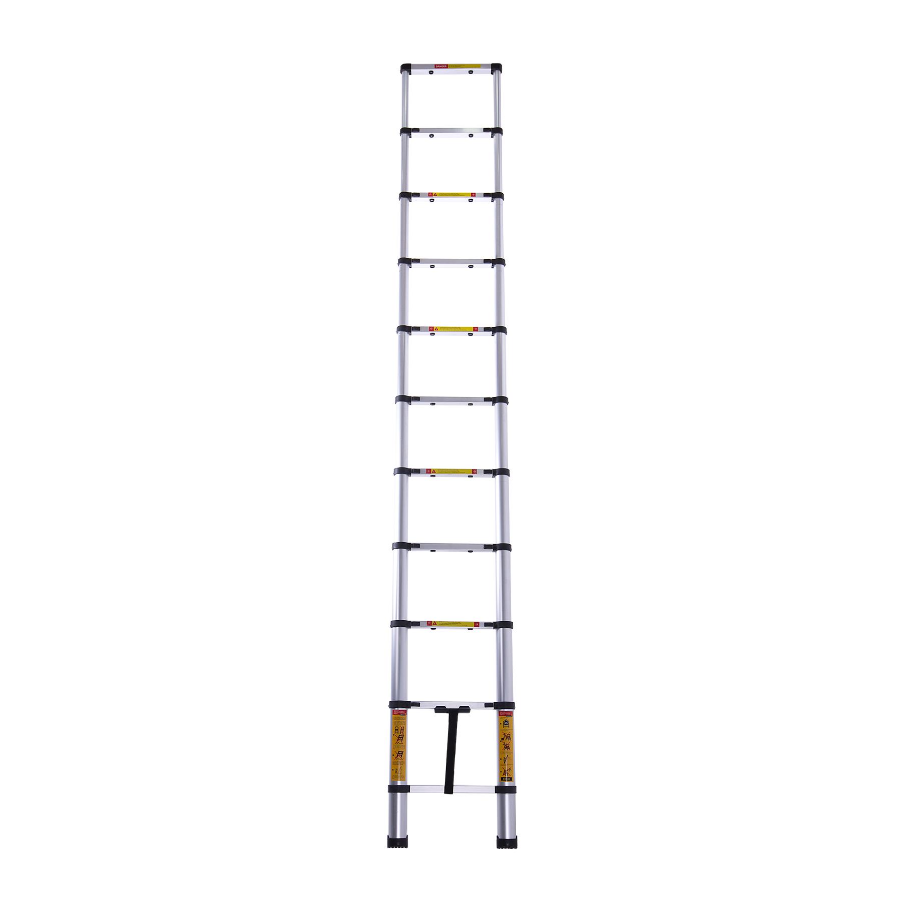 Лестница телескопическая алюминиевая 10 ступенек