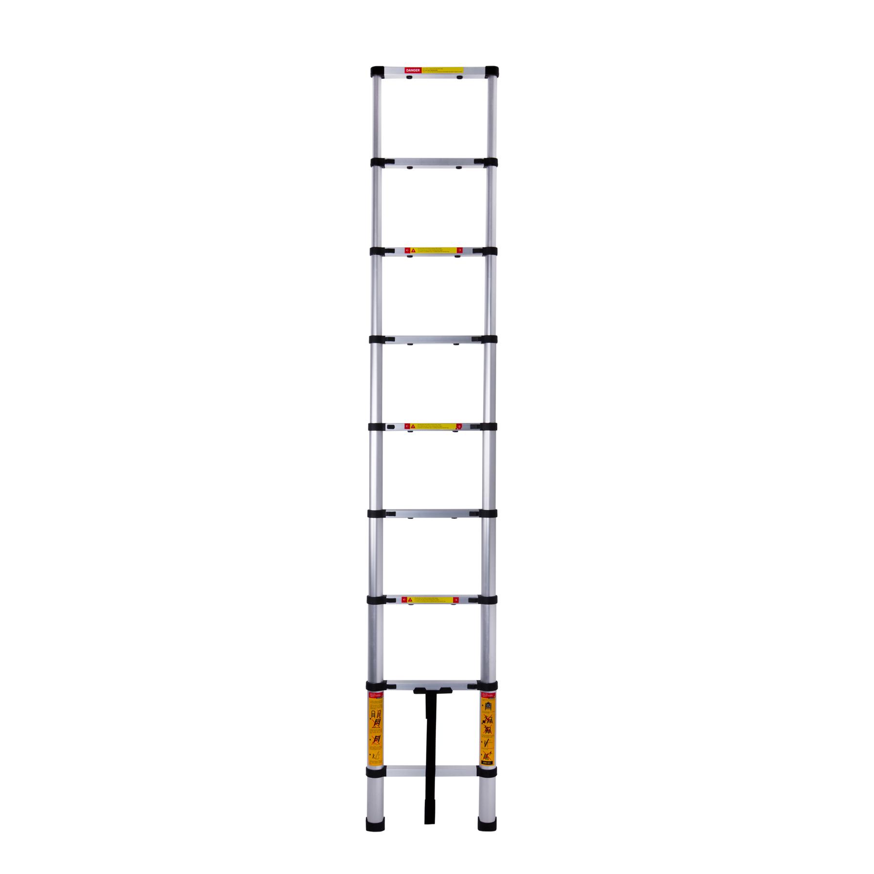Лестница телескопическая алюминиевая 8 ступенек