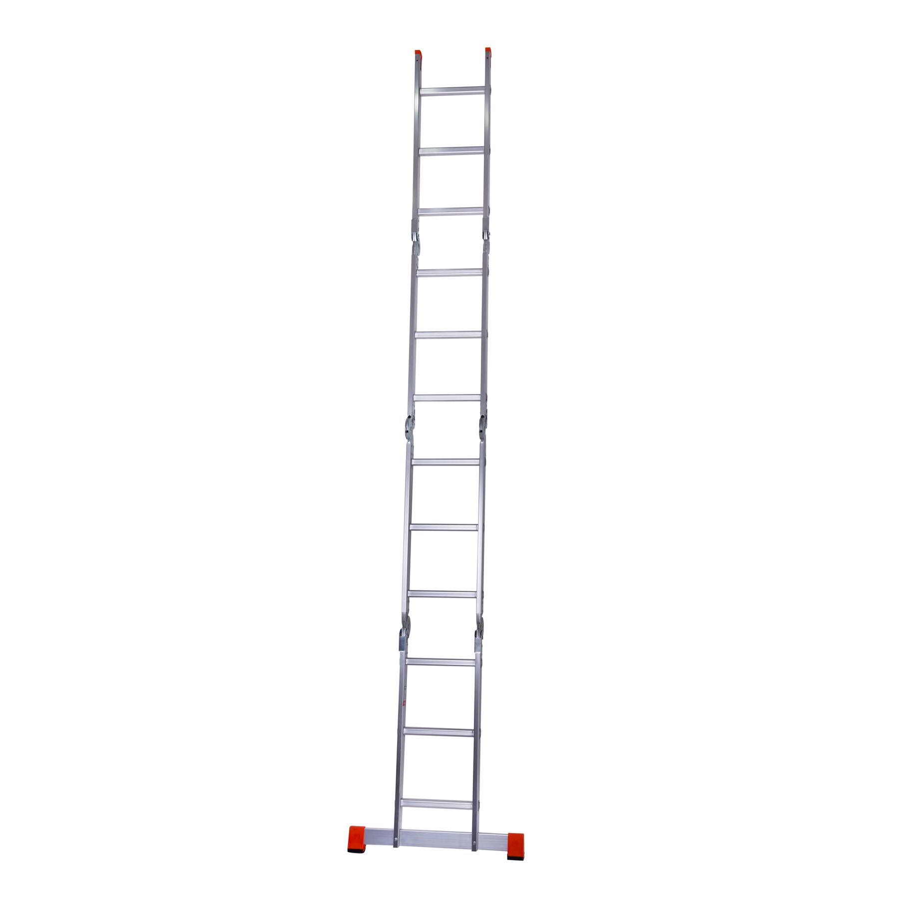 Лестница шарнирная алюминиевая в разложенном виде