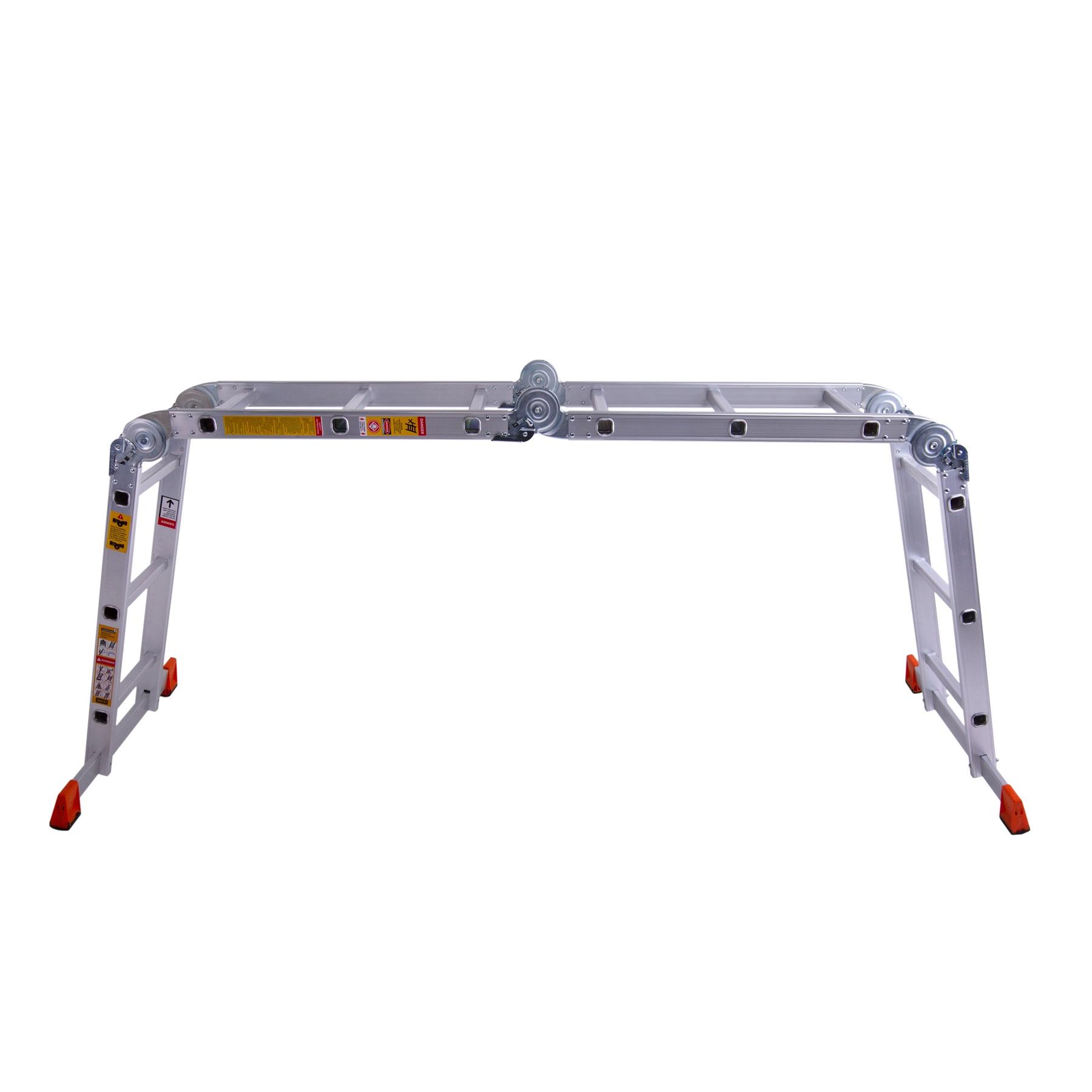 Лестница шарнирная алюминиевая Bellatrix 4×5 ступенек