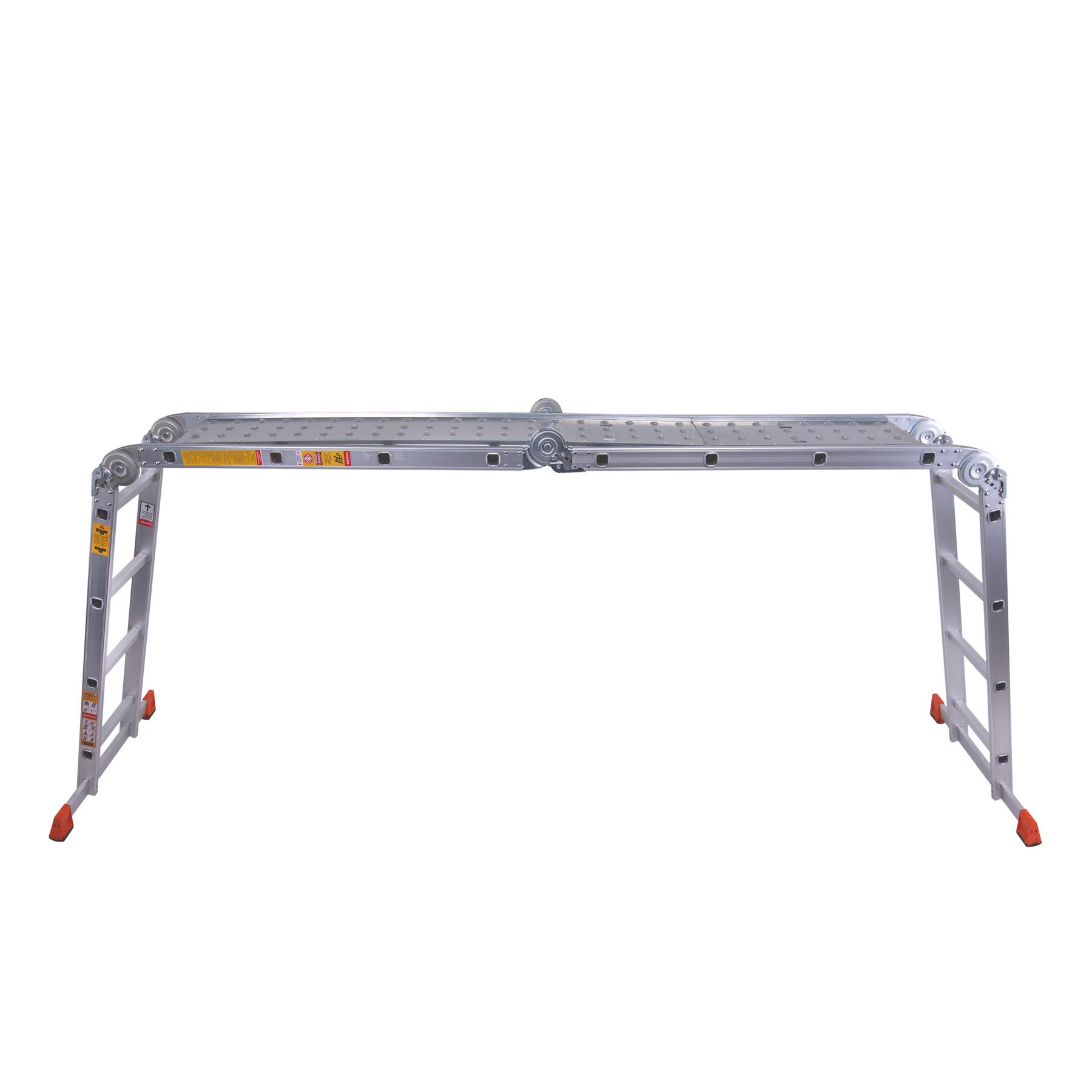 Лестница шарнирная алюминиевая с платформой 4 ступеньки