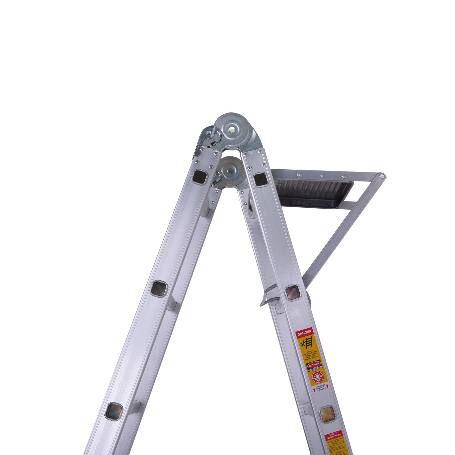 шарнирная лестница с рабочей платформой