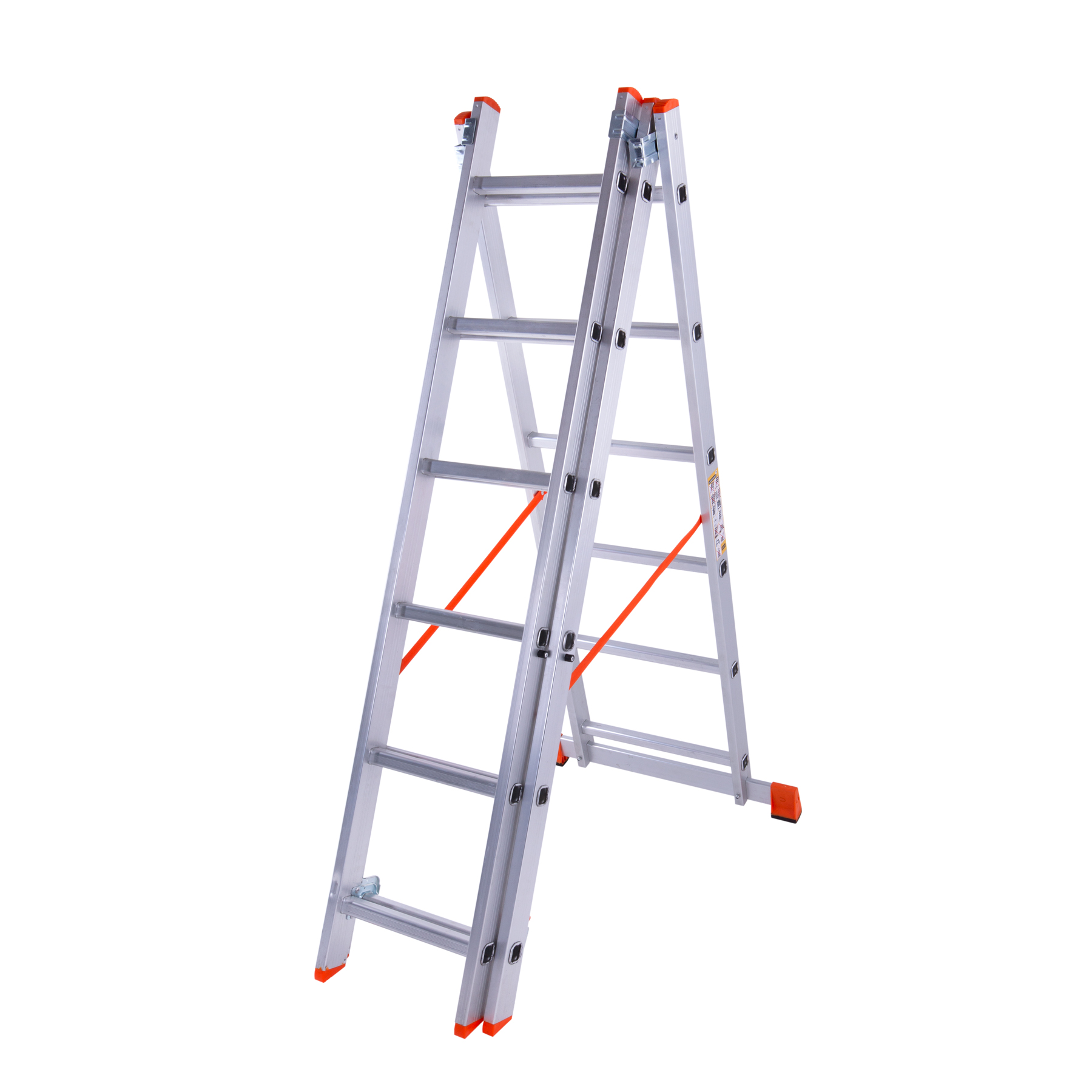 Лестница трехсекционная алюминиевая 3x6 ступенек