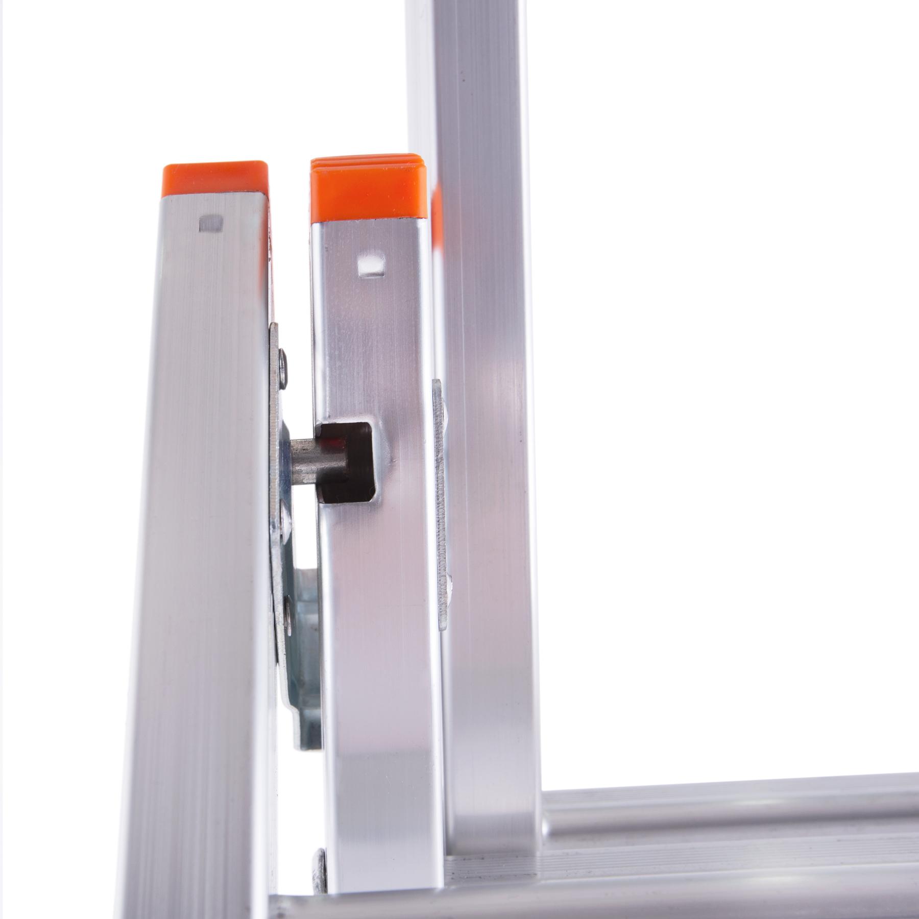 Лестница трехсекционная механизм